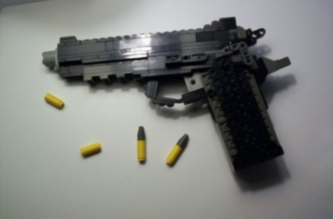 Think Legos are fun? Think agian -- guy with lego gun shot at by cops