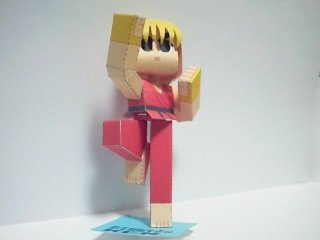 street-fighter-ken-papercraft-art-1