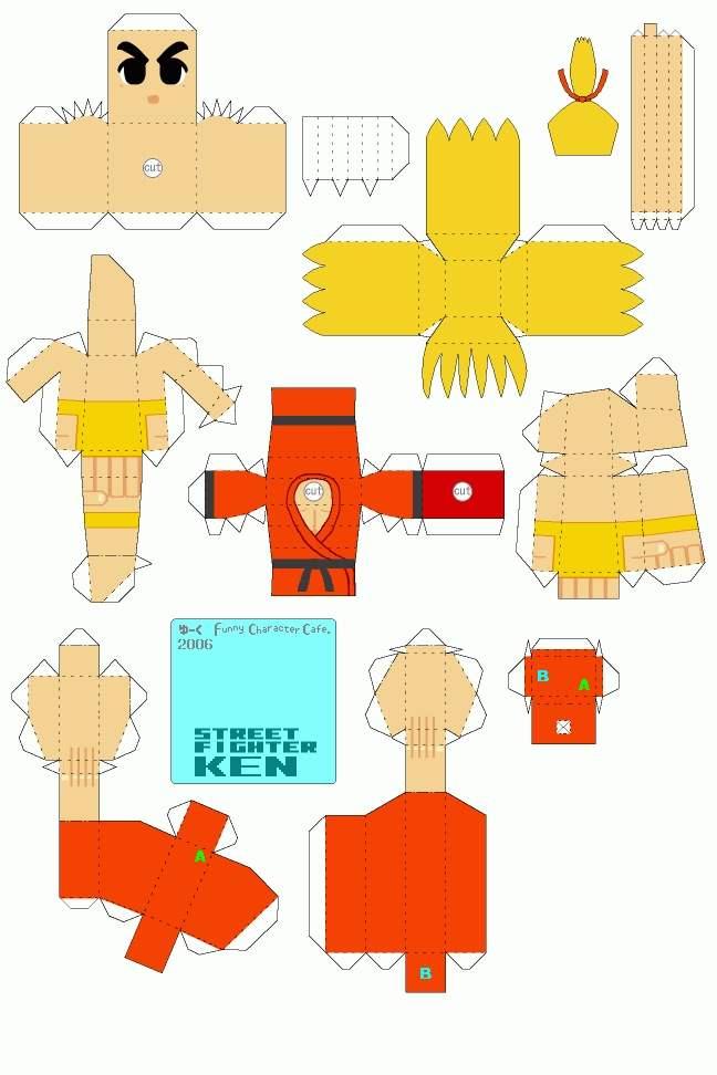 street-fighter-ken-papercraft-art-5