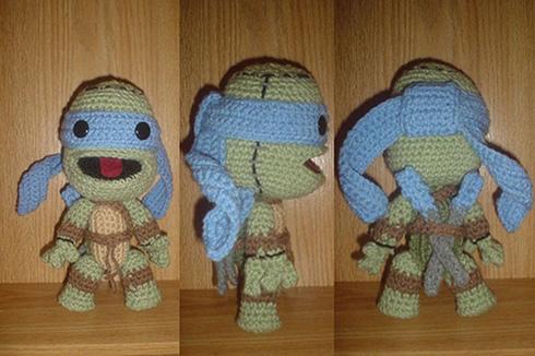 leonardo teenage mutant ninja turtle sackboy