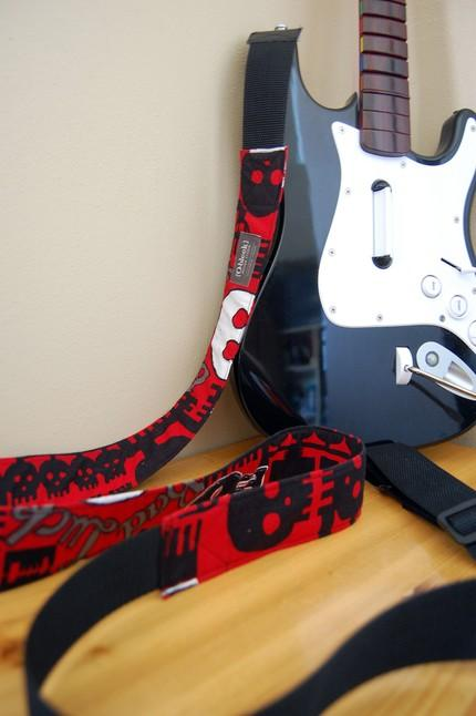 guitar hero guitar strap art