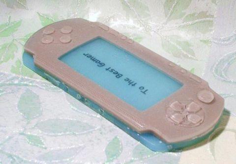 pink playstation portable soap bar