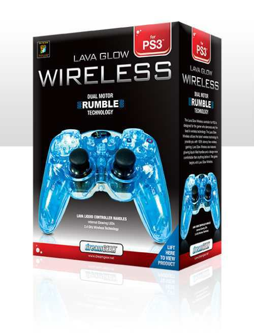 cool transparent ps3 controller