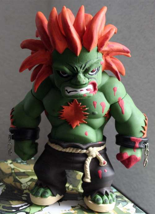 street fighter blanka statue