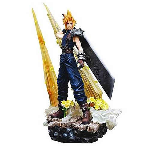final fantasy cloud strife statue