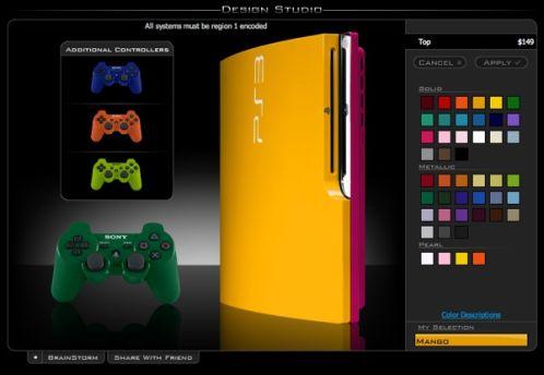 ps3 slim mod yellow colorware