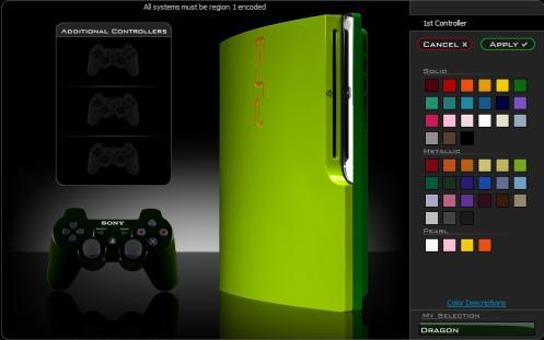 colorware ps3 slim mod green