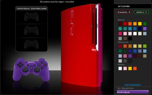 ps3 slim mod red colorware