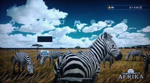 free ps3 animated theme afrika