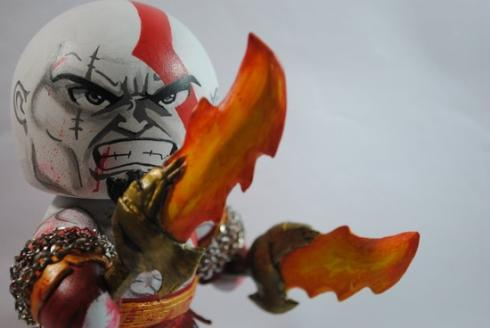 kratos god of war mugg figure