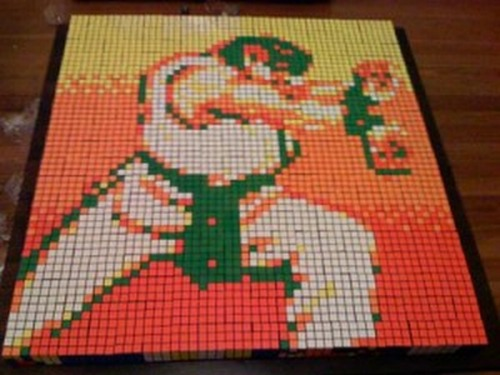 Pixelized-Ryu-is-Made-Up-Of-Rubiks-Cube