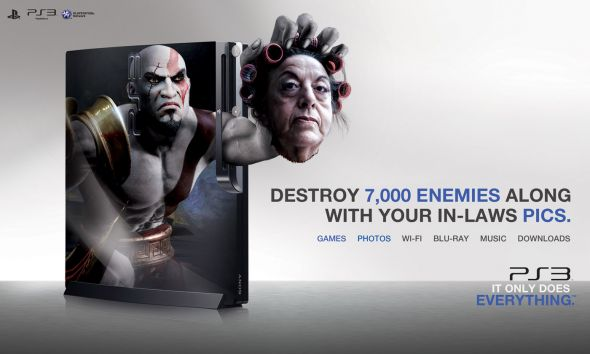 god of war ps3 ad campaign