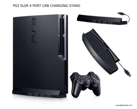ps3 slim four port usb stand