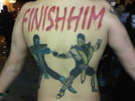 Mortal Kombat back tattoo