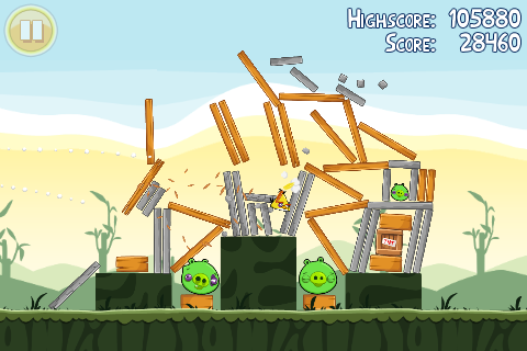 Angry Birds Mobile Version In Game Image 1