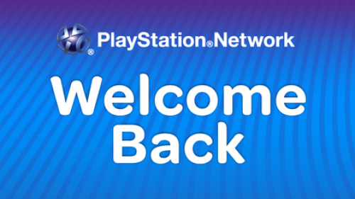 PSN Welcome Back Image