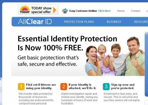 AllClear ID Website Image