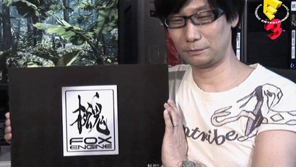 Hideo Kojima presenting the Fox Engine.