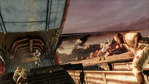 Uncharted 3 Multiplayer Airport Battle Image