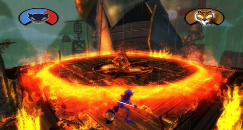 Sly Cooper Thieves In Time Boss Fight El Jefe Image