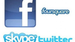 Facebook Twitter foursquare skype Apps Image