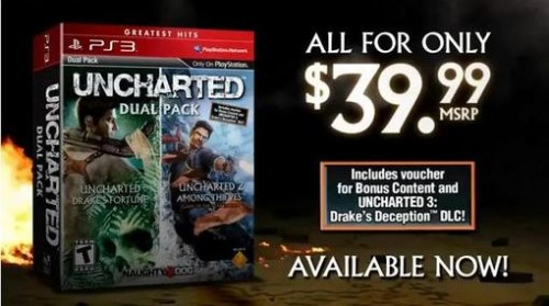 Uncharted Greatest Hits Dual Pack Screen