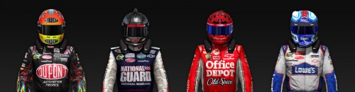 NASCAR Diver 2010 Helmet and Suit Image