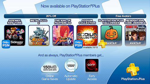 PS Plus October 11 2011