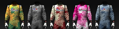Racing suit Graffiti 5 colors Image