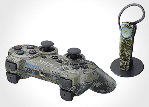 urban camo ps3 controller and headset