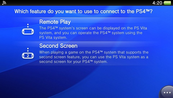 PS4 Link app PS Vita image