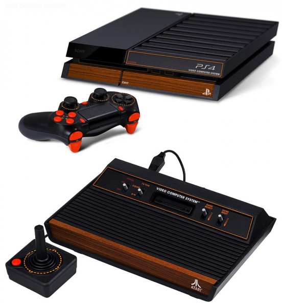 Atari 2600 PlayStation 4 by Phantom Fighter comparison image
