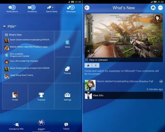 PlayStation mobile app update image