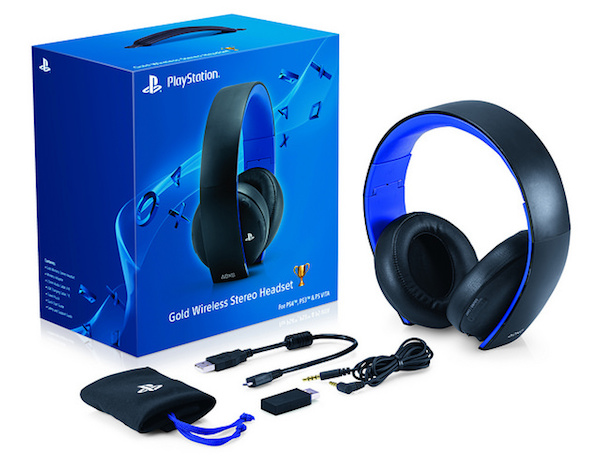 PlayStation Gold stero headset image 1