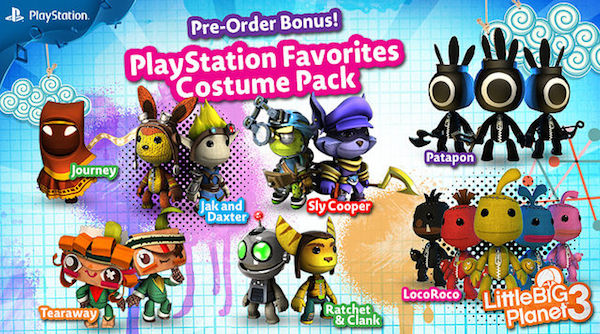 LittleBigPlanet 3 DLC costumes PlayStation Favorites image