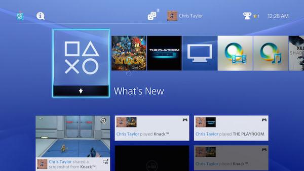 PlayStation 4 OS image
