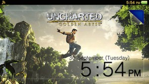 Uncharted Golden Abyss Vita Theme image 1