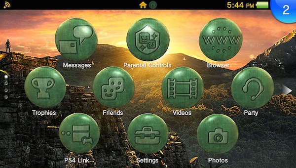 Uncharted Golden Abyss Vita Theme image 2